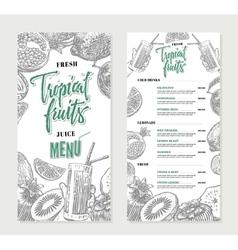Fresh Restaurant Menu Template vector