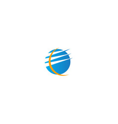 globe technology internet logo vector image