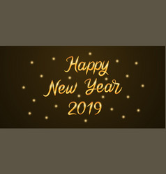 golden lettering of happy new year 2019 vector image