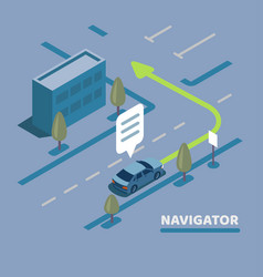 gps navigation map vector image