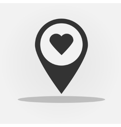 Gps navigation style icon with heart vector