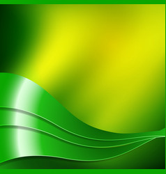 green and yellow wavy design vector image