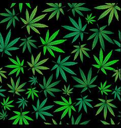 green marijuana sheets vector image