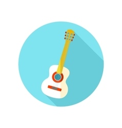 Guitar Beach flat icon with long shadow vector