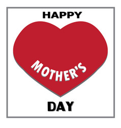 Happy mother day isolated on whiter happy mother vector