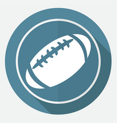 Icon american football on white circle with a vector