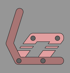 Icon in flat design snowboard binding vector