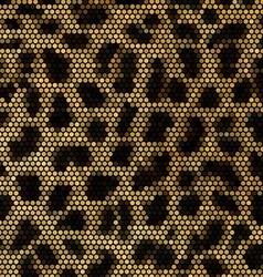 Leopard mosaic background vector