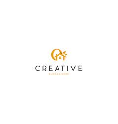 letter o home nature creative business logo design vector image