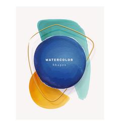 liquid brush strokes watercolor splashes shapes vector image