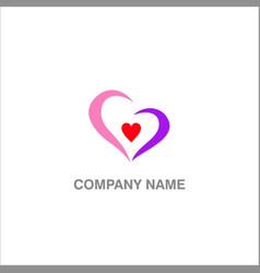 love heart beauty logo vector image