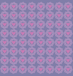 love pattern ornament vector image