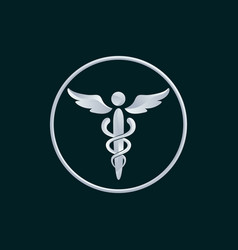 Medicine symbol logo icon design vector