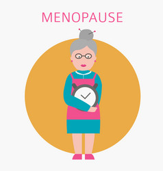 menopause icon isolated on white grandmother is vector image