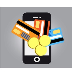 Mobile payments smartphone vector image