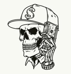 Money vintage monochrome concept vector