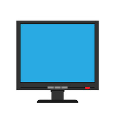 Monitor screen front view display icon above vector