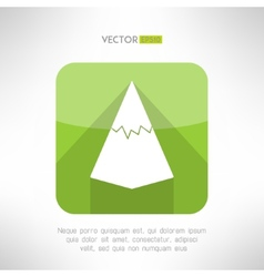 Mountain icon in modern flat design with long vector image vector image