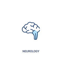 Neurology concept 2 colored icon simple line vector