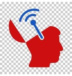 Open Brain Radio Interface Icon vector
