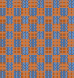 Orange and blue seamless fabric texture pattern vector