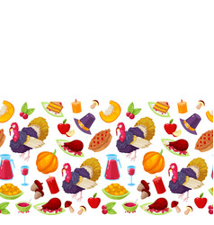 pattern for thanksgiving day vector image