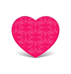 Patterned cute pink heart vector