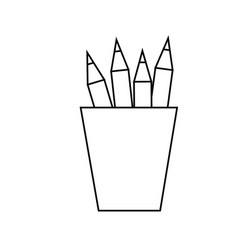 Pencil colors icon vector