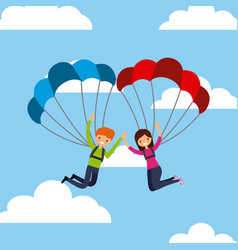 people having fun design vector image