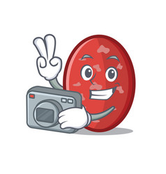 Photographer salami mascot cartoon style vector