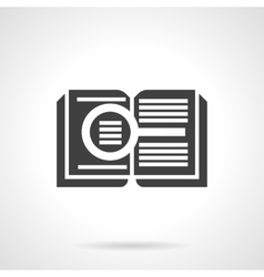 Reading book glyph style icon vector