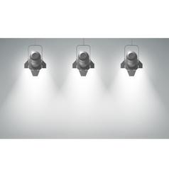 Realistic hanging spotlights composition vector