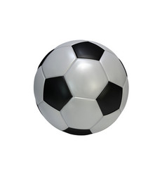 realistic soccer ball isolated on white vector image