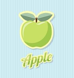 Retro apple vector