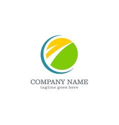 Round business logo design vector