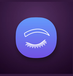 Rounded eyebrow shape app icon vector