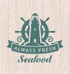 Seafood shop vector