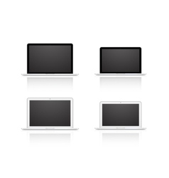 set laptop isolated on white background vector image