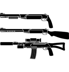 Shotgun gun and rifle stencil vector