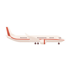 side view passenger airplane or aircraft vector image