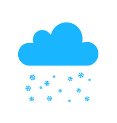 snowfall weather icon isolated on background mode vector image