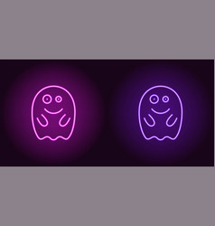 Soaring neon spirit in purple and violet color vector