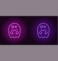 Soaring neon spirit in purple and violet color vector