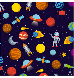 Solar system icons set flat vector