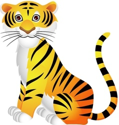 tiger cartoon vector image