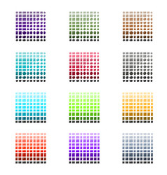 Tile and stone color palette set vector