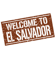 Welcome to el salvador stamp vector