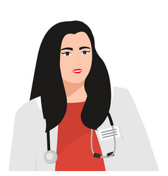 women doctors therapists with a phonendoscope vector image