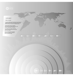 World map in perspective infographic template for vector image