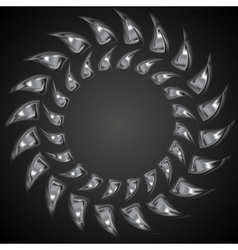 Abstract metal shape logo background vector image vector image